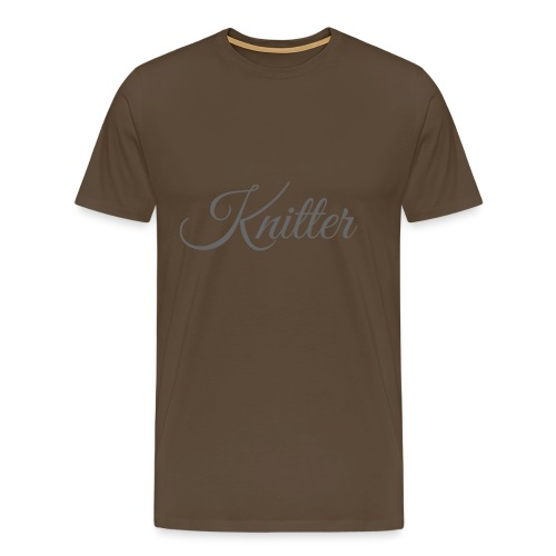 Knitter, dark gray - Men's Premium T-Shirt