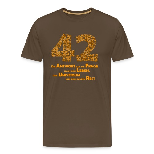 DIE Antwort - 42 - Männer Premium T-Shirt