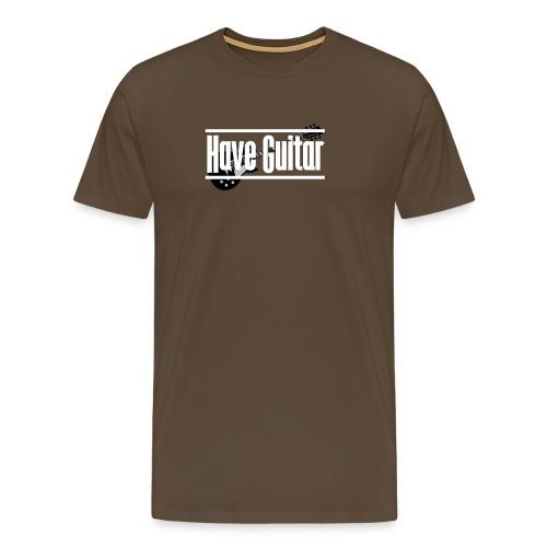Have Guitar condensed logo - Premium-T-shirt herr