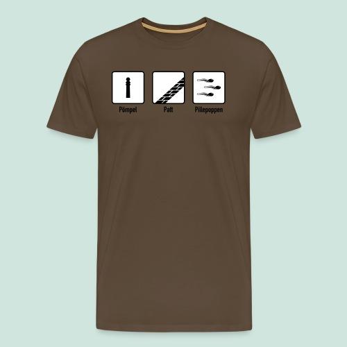 Pömpel Patt und Pillepoppen - Männer Premium T-Shirt