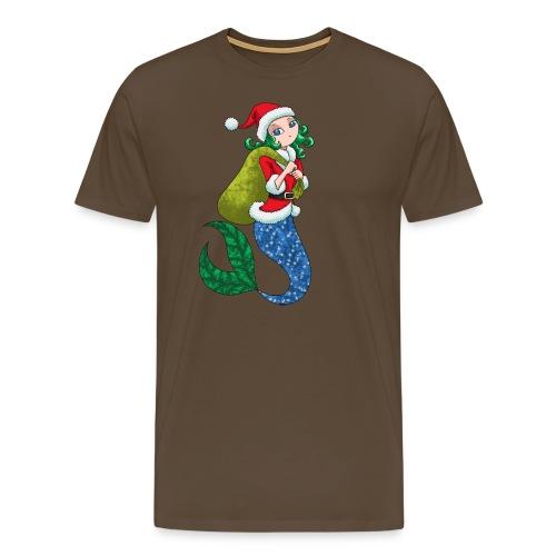 Meerjungfrau Weihnachtsmann Weihnachten Geschenk - Männer Premium T-Shirt