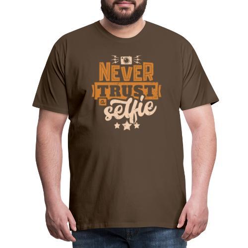 Never trust - Premium-T-shirt herr
