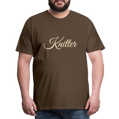 Knitter, tan - Men's Premium T-Shirt