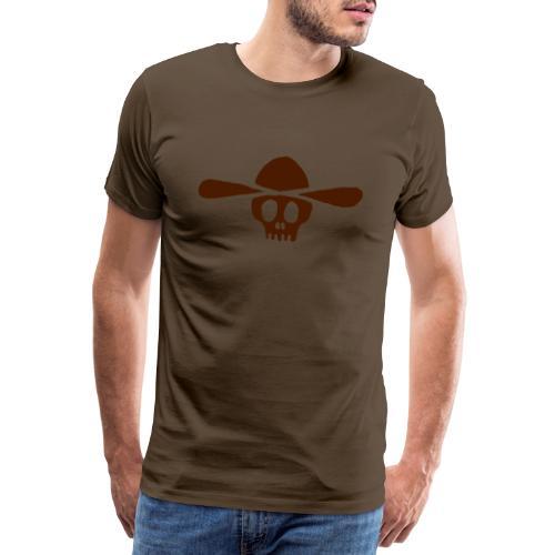 Totenkopf Kauboi - Männer Premium T-Shirt