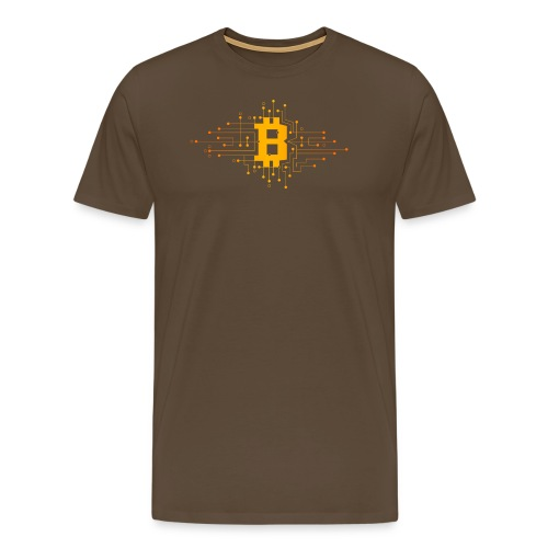 Bitcoin Krypto Design - Männer Premium T-Shirt