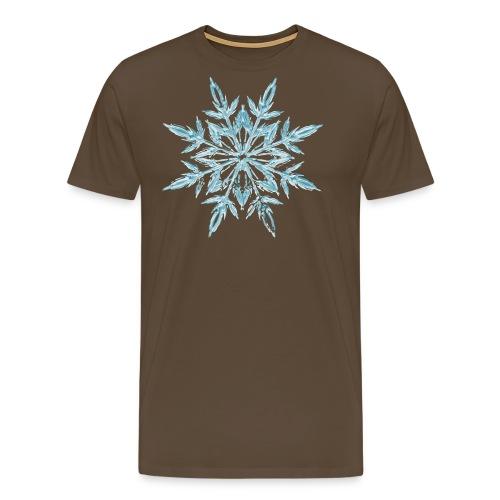 Weihnachten Eiskristall - Männer Premium T-Shirt