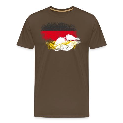 Fahne Deutschland Kussmund/Lippen - Fanshirt - Männer Premium T-Shirt