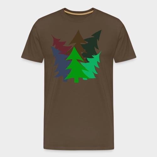 Christmas Trees Dancing - Men's Premium T-Shirt