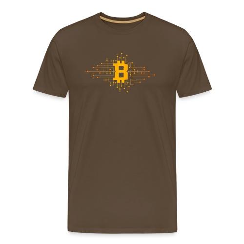 Bitcoin Krypto Design - Männer Premium T-Shirt