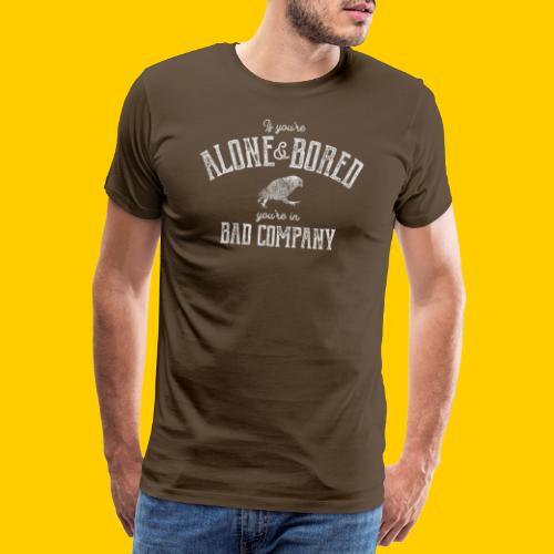 Alone and bored - Premium-T-shirt herr