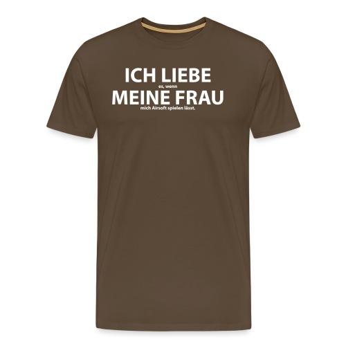 Liebe Frau Airsoft - Männer Premium T-Shirt