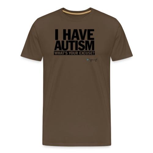 I have autism... (black) - Koszulka męska Premium