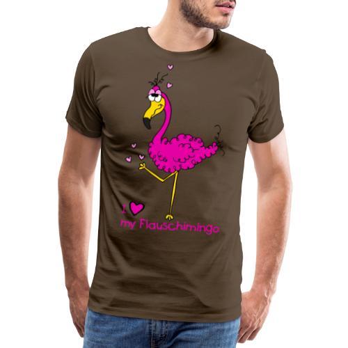 I love my Flauschimingo - Männer Premium T-Shirt