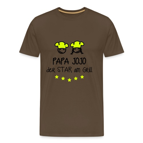 papa jojo star am grill 2c - Männer Premium T-Shirt