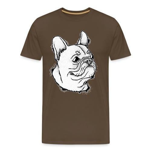 Französische Bulldogge Kopf - Männer Premium T-Shirt