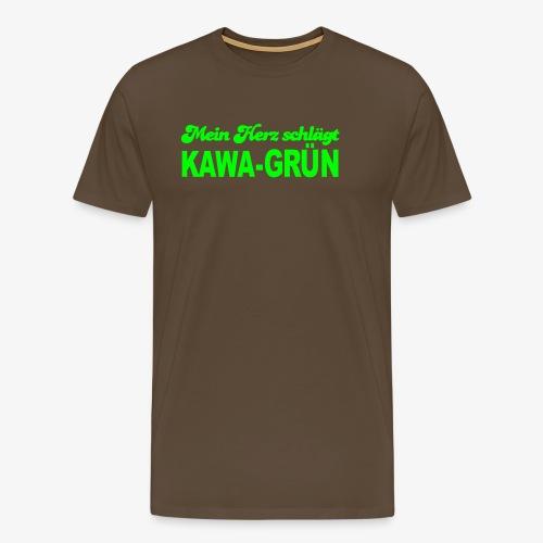 Mein Herz schlägt KAWA GRÜN - Männer Premium T-Shirt