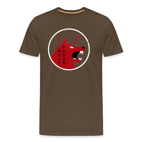 red wolf vintage grunge - Männer Premium T-Shirt