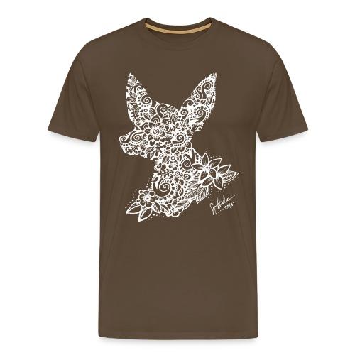 Mandalakoira Tiny White - Miesten premium t-paita