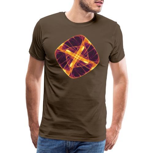 Chakra Mandala Mantra OM Chaos Stern Kreis 12255i - Männer Premium T-Shirt