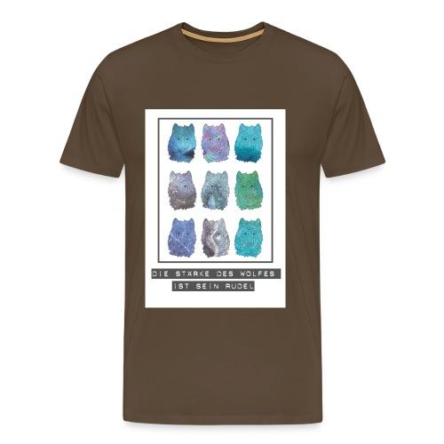 Die Stärke des Wolfes - Männer Premium T-Shirt