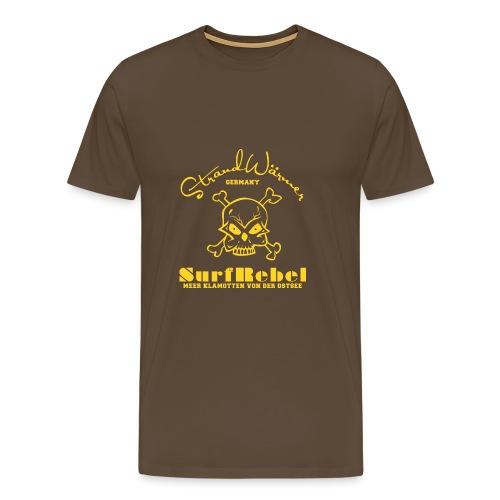 StrandWärmer_Surf Rebel_gelb - Männer Premium T-Shirt