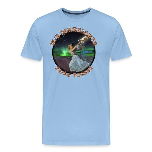 Turku mustareuna - Miesten premium t-paita