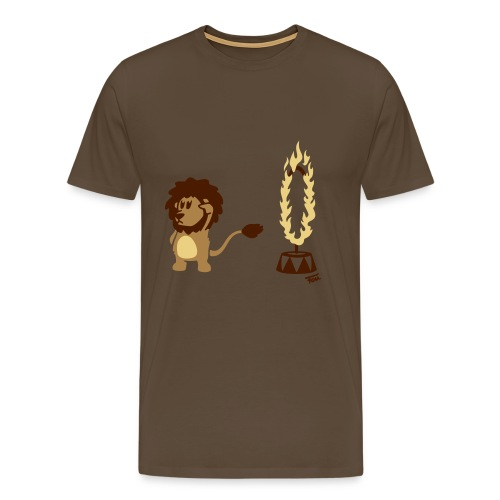 Löwe Feuer (bunt) - Männer Premium T-Shirt