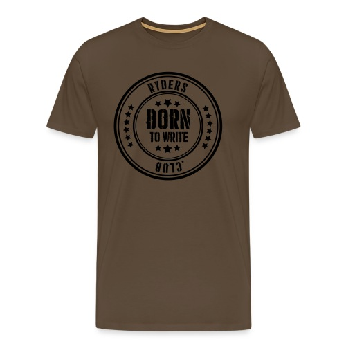 Ryders Club Born to Write - Männer Premium T-Shirt