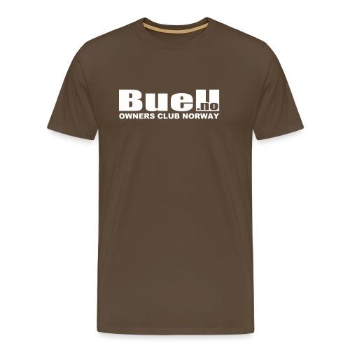 Hvit Logo - Premium T-skjorte for menn