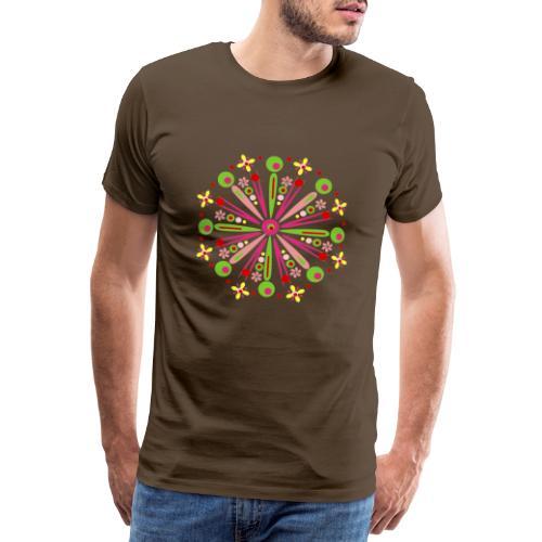 Mandala Zomer - Mannen Premium T-shirt