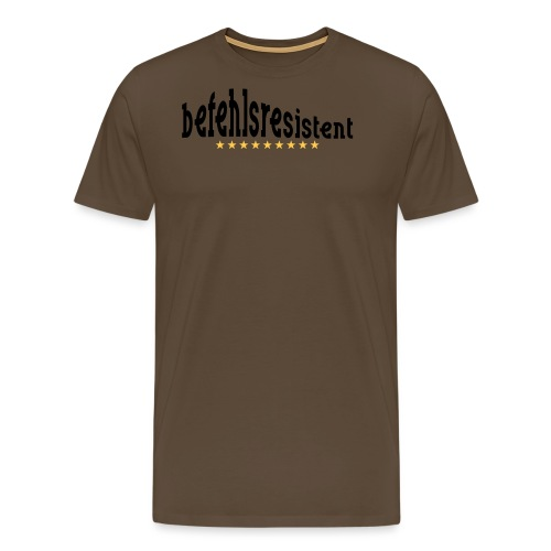 befehlsresistent - Männer Premium T-Shirt
