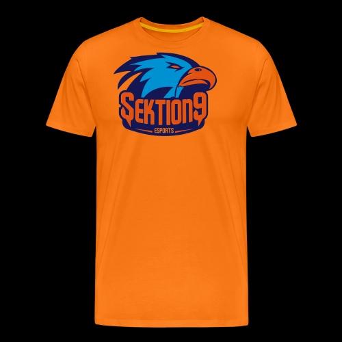 Orange/Blau - Männer Premium T-Shirt