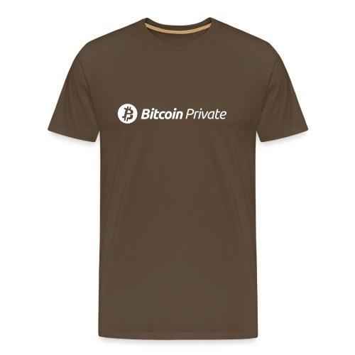 Bitcoin Private Logo White - Men's Premium T-Shirt