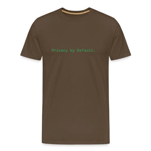 pEp-slogan-green - Männer Premium T-Shirt