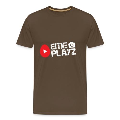 Wit Eitje Playz logo - Mannen Premium T-shirt