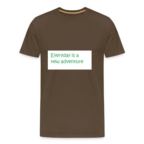 Everyday is A new adventure inspirational logo - Men's Premium T-Shirt