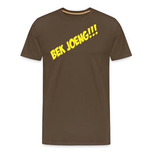 T-shirt met grappige tekst Bek joeng - Mannen Premium T-shirt