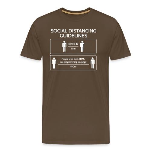 SocialDistancing Covid-19 vs. HTML - Männer Premium T-Shirt