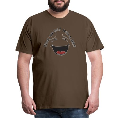 Zacznij dzień z uśmiechem - Koszulka męska Premium