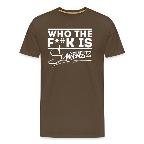 who the fuck is synobazz - Männer Premium T-Shirt