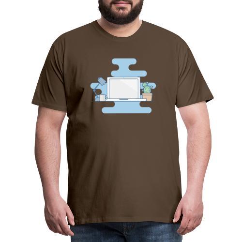 Arbeitstisch - Männer Premium T-Shirt