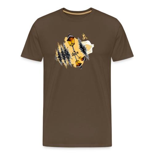 Ride & Tek orange - T-shirt Premium Homme