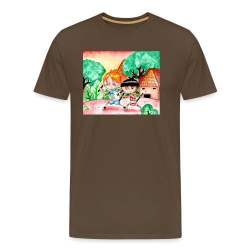 friendship, arnis, training, philippines - Herre premium T-shirt