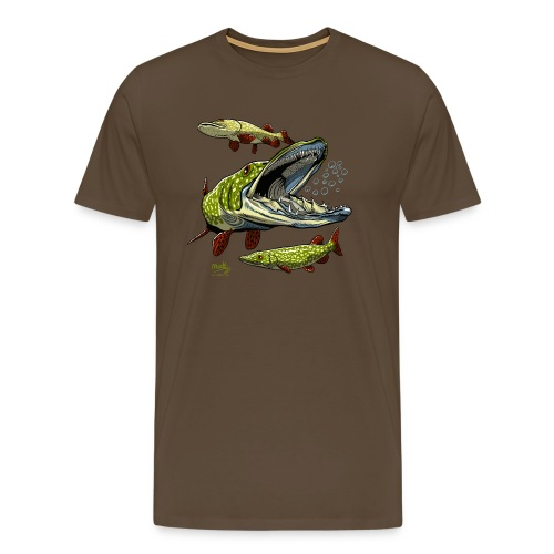 Cool Pike Fishing T-shirt, Hoodie and Products - Miesten premium t-paita