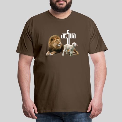 Jesus der Löwe und das Lamm - Männer Premium T-Shirt