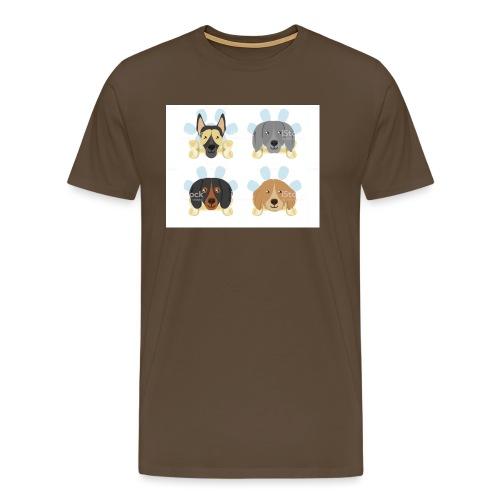süße Hunde - Männer Premium T-Shirt