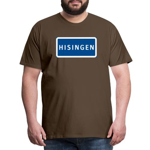 Vägskylt Hisingen - Premium-T-shirt herr