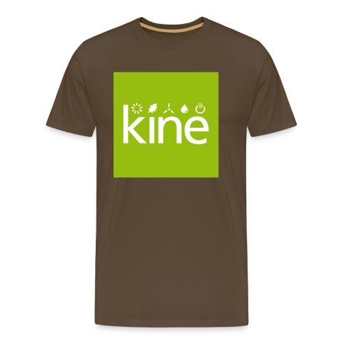 kine Logo nur für Button mit Hintergrund - Männer Premium T-Shirt
