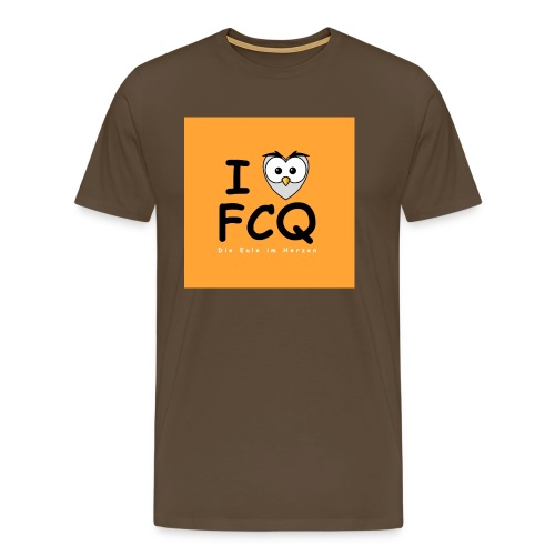 I Love FCQ button orange - Männer Premium T-Shirt
