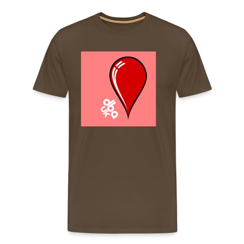 DBA Logo Drop Pink - Men's Premium T-Shirt